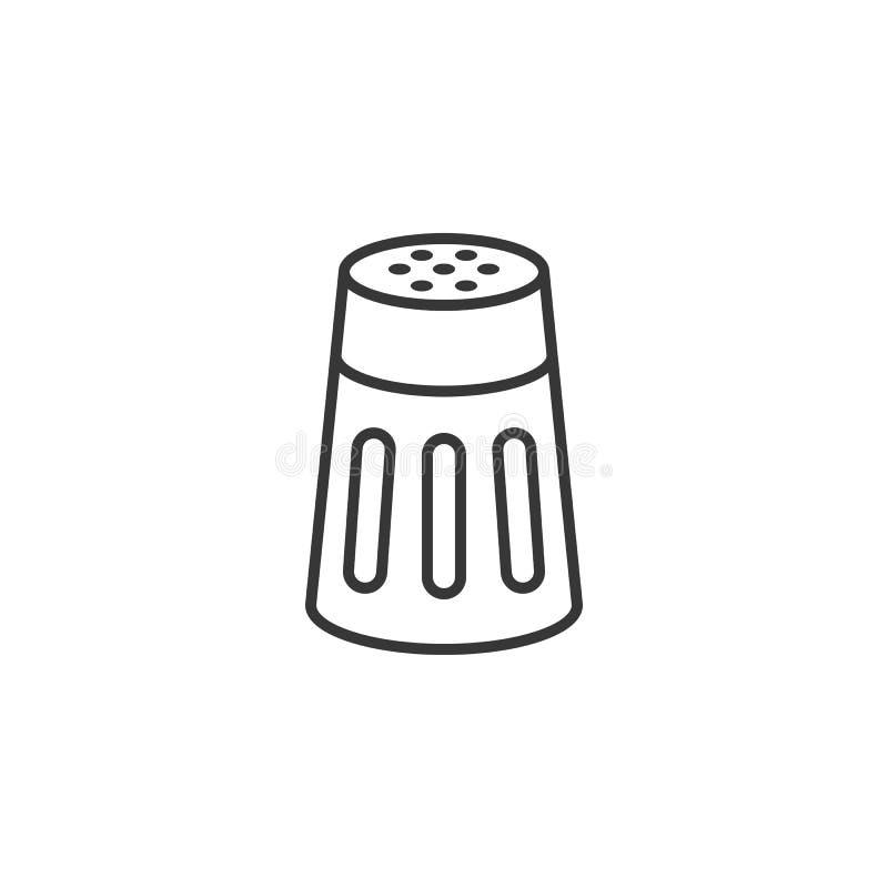 Coctelera de la sal o de la pimienta stock de ilustración