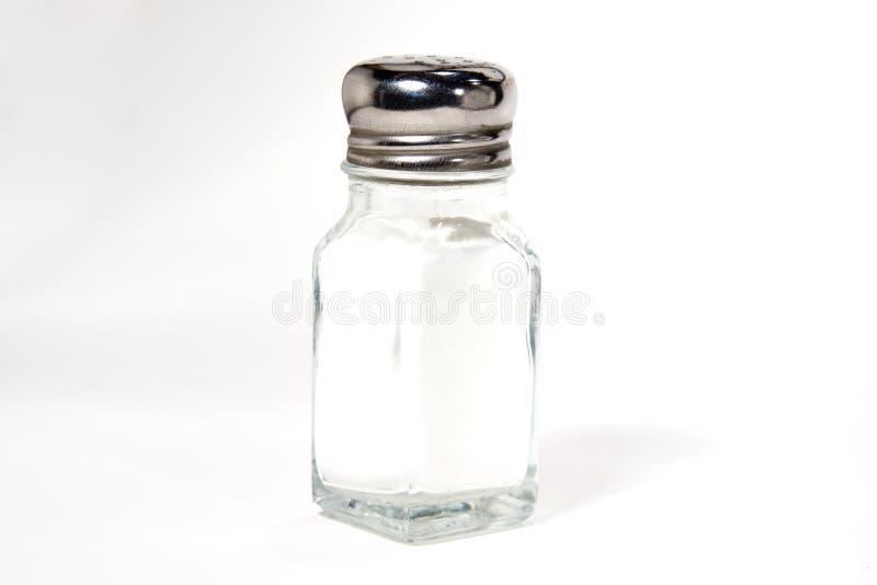 Coctelera de sal aislada fotos de archivo