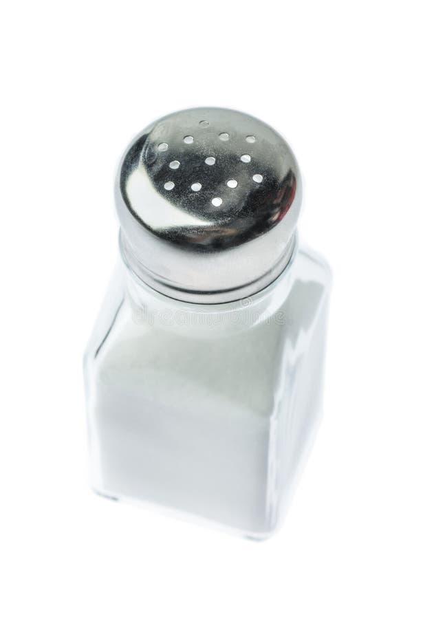 Coctelera de sal aislada imagenes de archivo