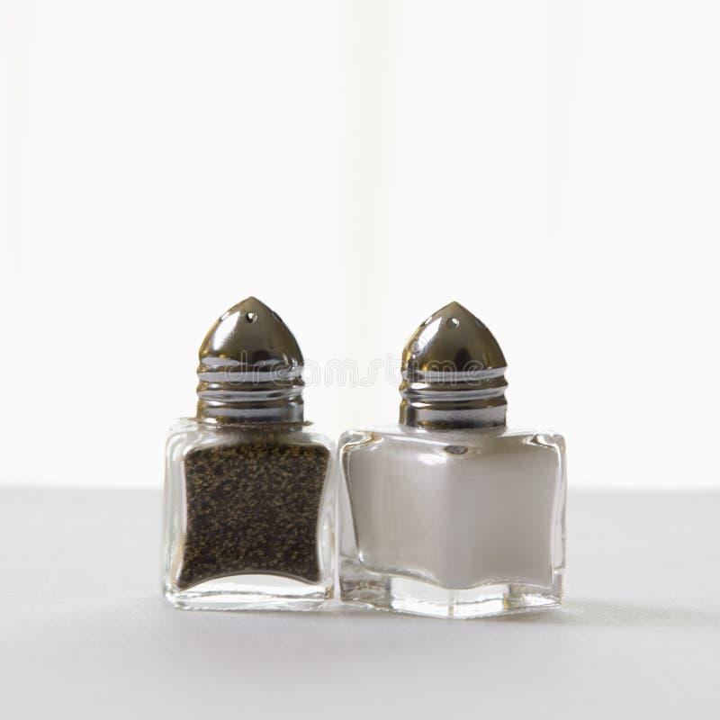 Coctelera de sal y de pimienta. imagen de archivo libre de regalías