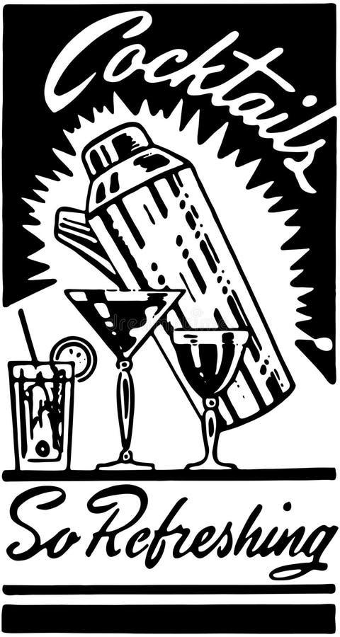 Cocteles 3 ilustración del vector