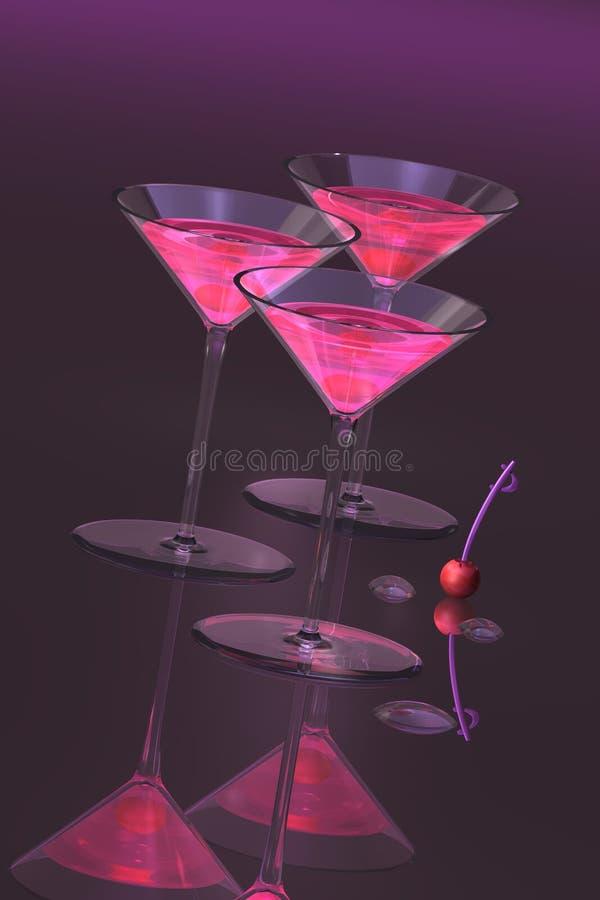 Cocteles con las cerezas libre illustration