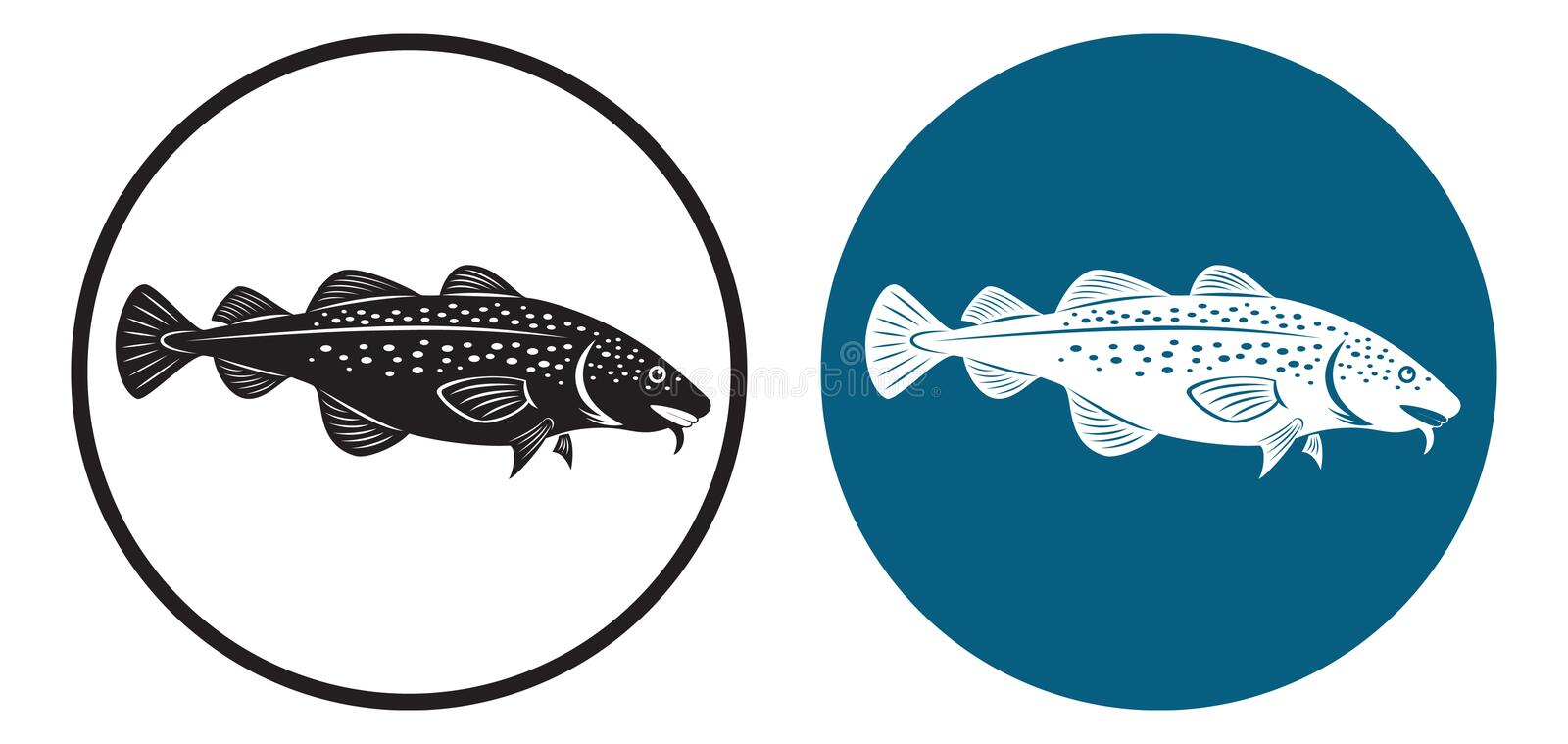 Cod. The figure shows a cod fish royalty free illustration