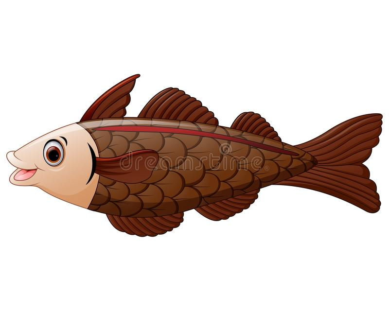 Cod fish cartoon. Illustration of cod fish cartoon vector illustration