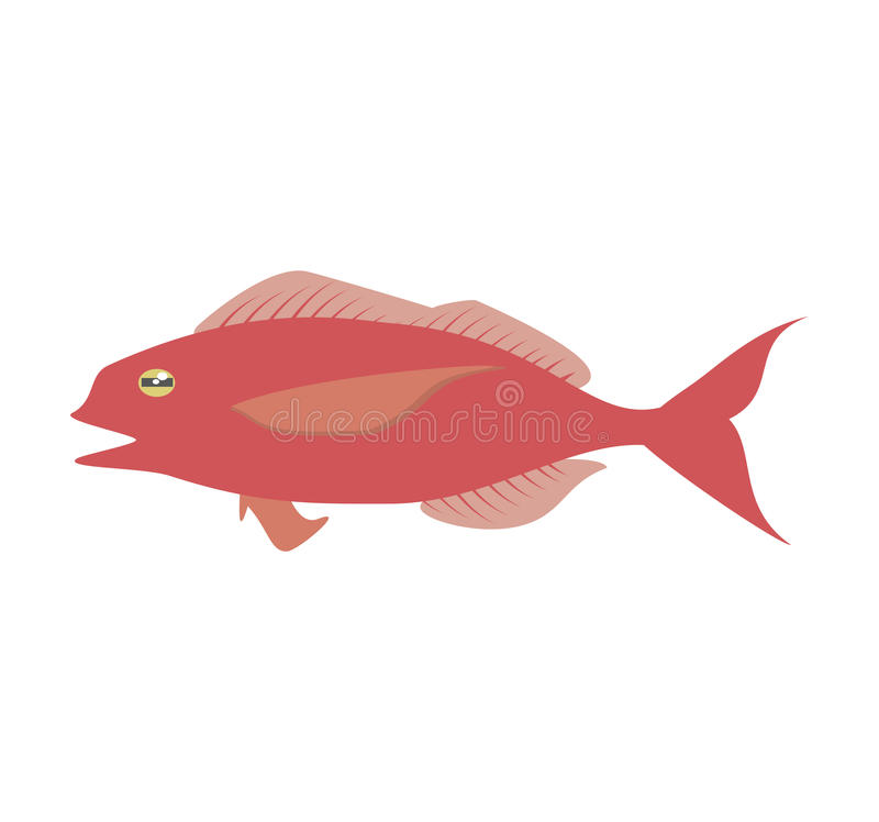 Cod fish sealife food ocean. Illustration eps 10 royalty free illustration