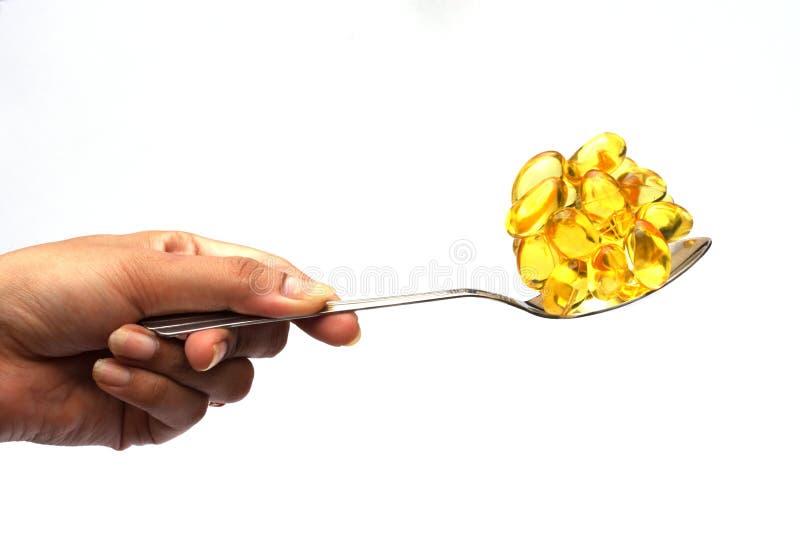 Cod liver oil pills stock photo