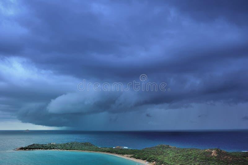 Coda Cavallo каподастра шторма передний причаливая стоковое изображение rf