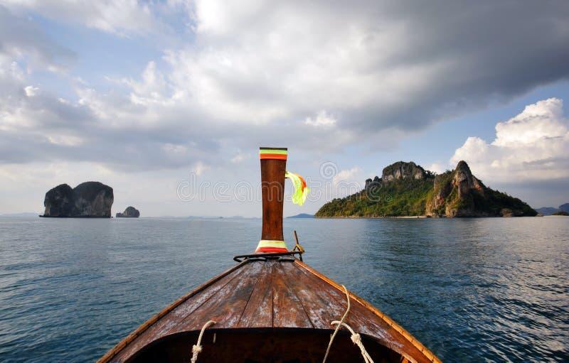 coda lunga Tailandia della barca immagine stock libera da diritti