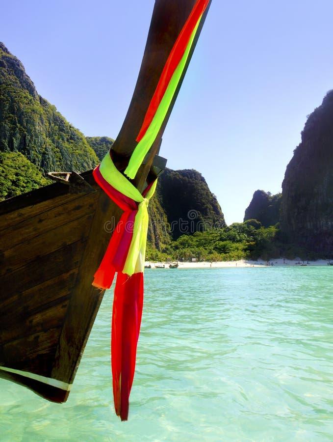 coda lunga Tailandia della barca immagine stock