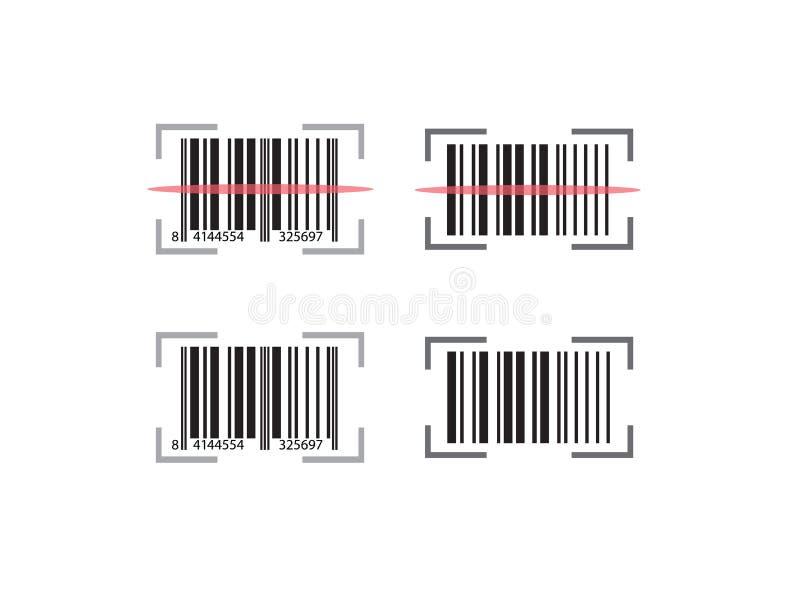 Codabar set with scan line effect design for logo illustration royalty free illustration