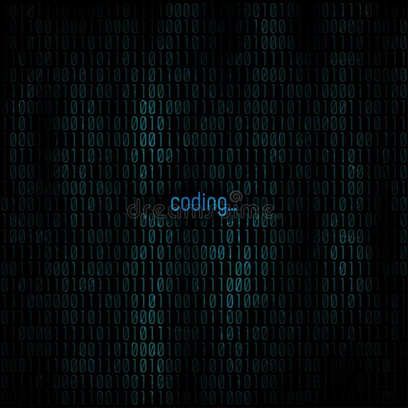 Codage du fond abstrait Matrix avec le code binaire pour votre fond de projet d'affaires Fond de programmation Vecteur photographie stock libre de droits