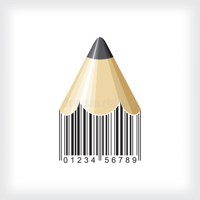 Code à barres de crayon illustration stock