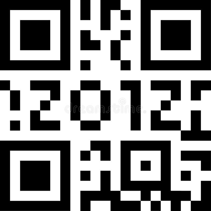 Code 2012 de Qr illustration libre de droits