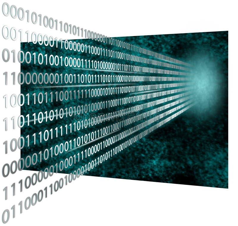code 3D binaire photographie stock libre de droits