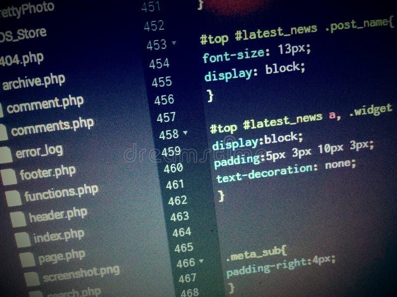 code royalty-vrije stock fotografie