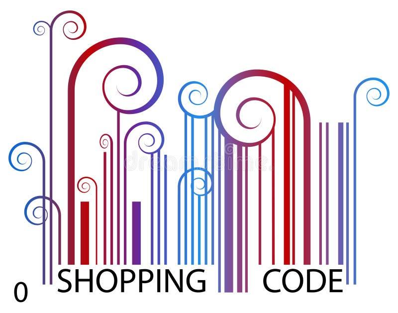 Code barres d'achats illustration libre de droits