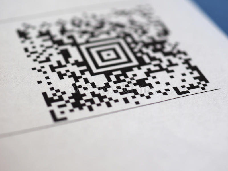 Code barres de code de QR image stock