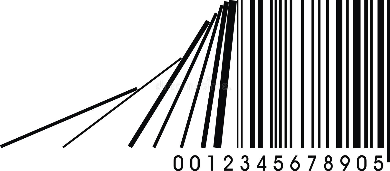 Code barres faux illustration de vecteur