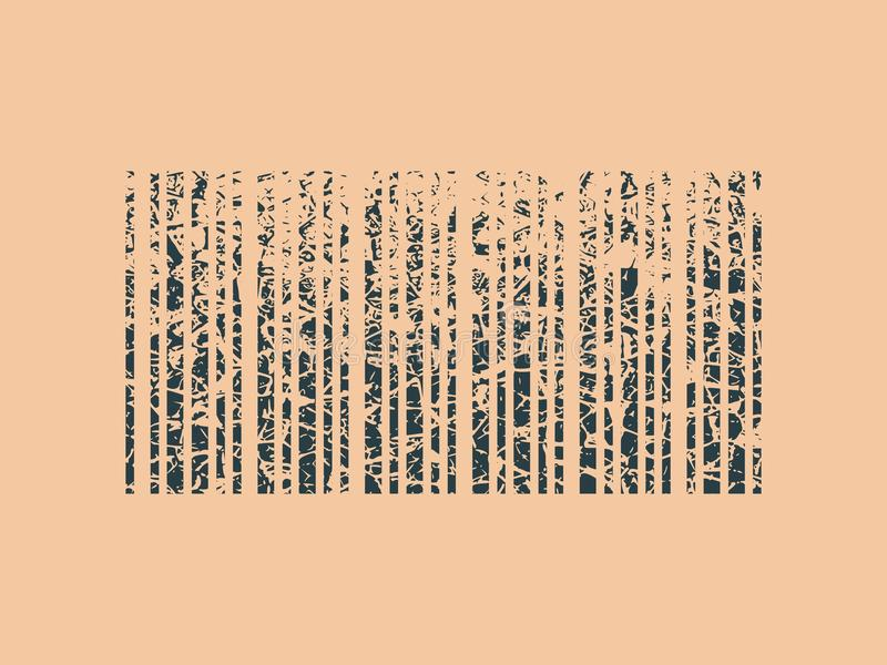 Code barres grunge abstrait de style illustration stock