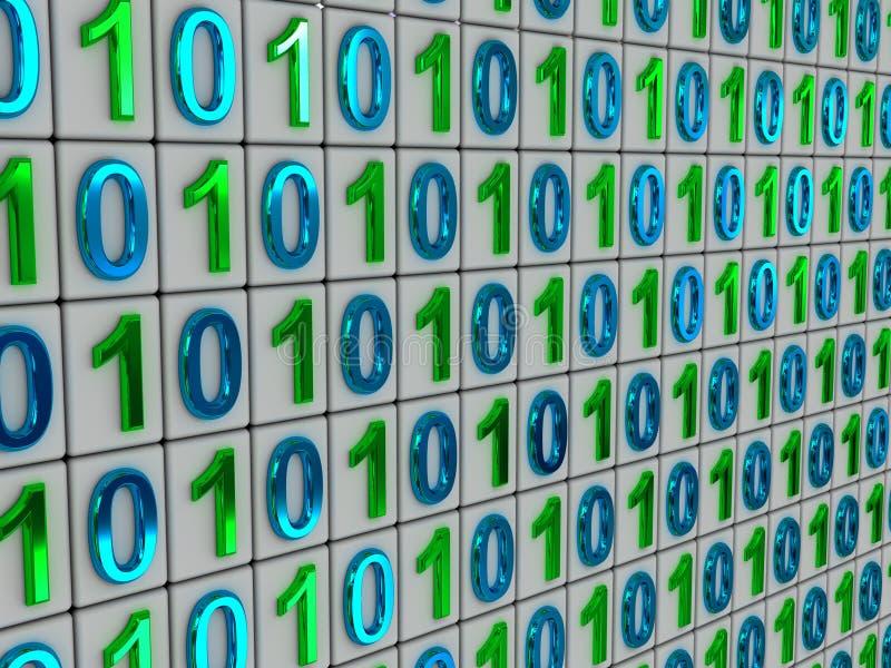 Code binaire. photo stock