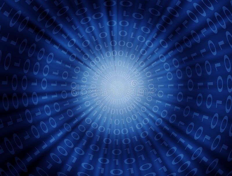 Code binaire illustration de vecteur
