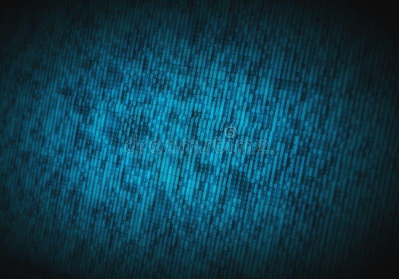 Code binaire abstrait sur l'écran d'ordinateur comme fond de technologie photos libres de droits