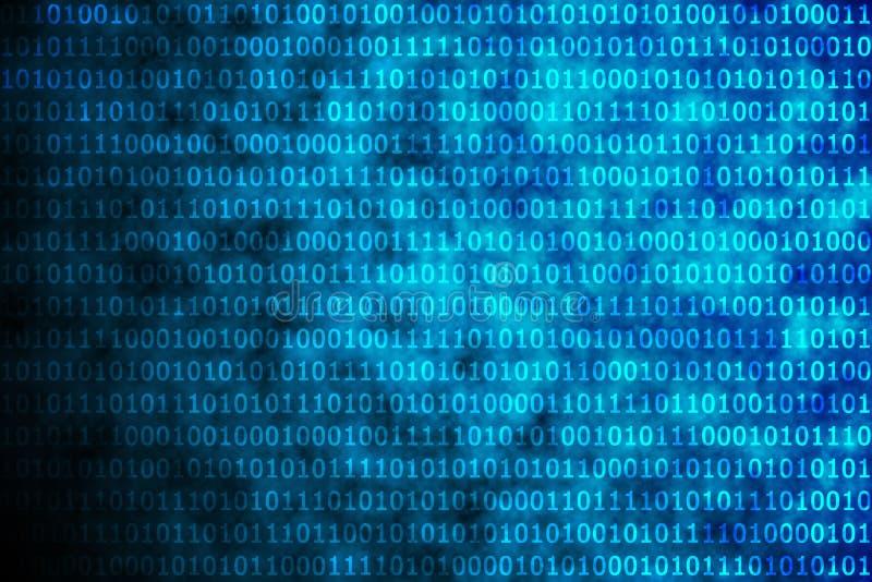 Code binaire bleu brillant illustration libre de droits