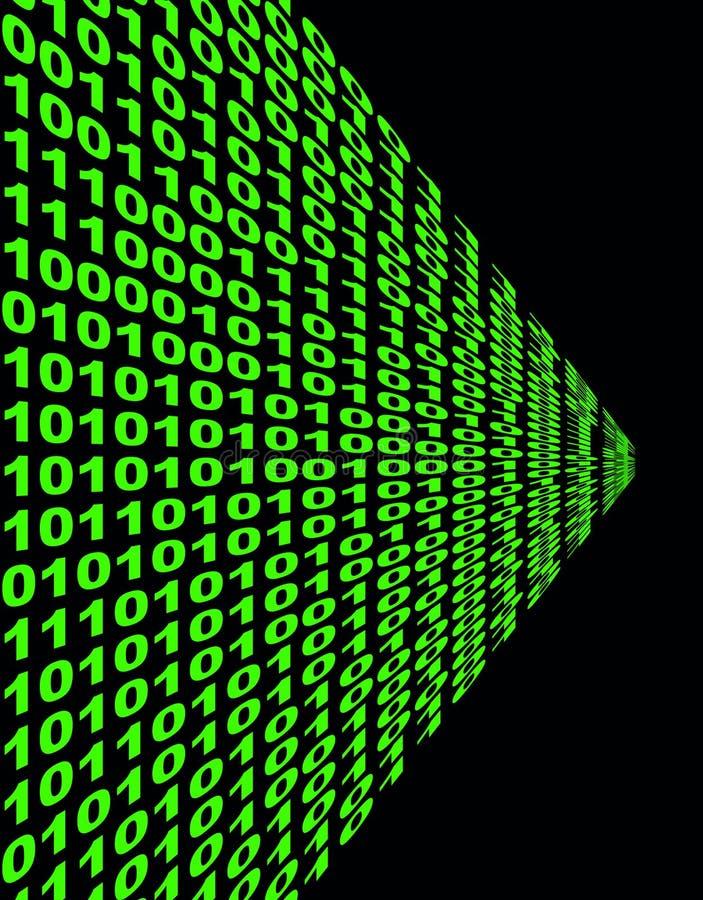 Code binaire complexe en vert illustration stock