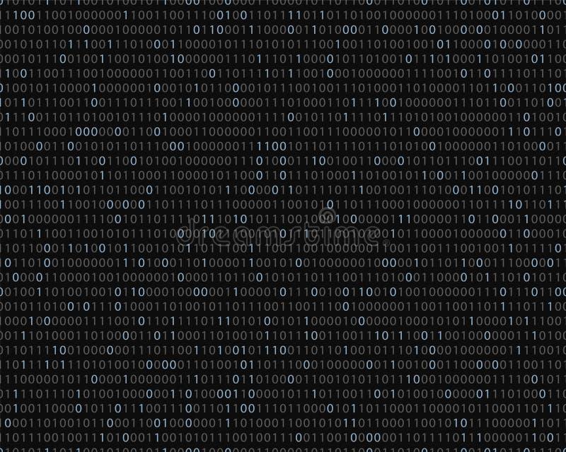 Code binaire Configuration sans joint de vecteur Backgro technologique foncé illustration libre de droits