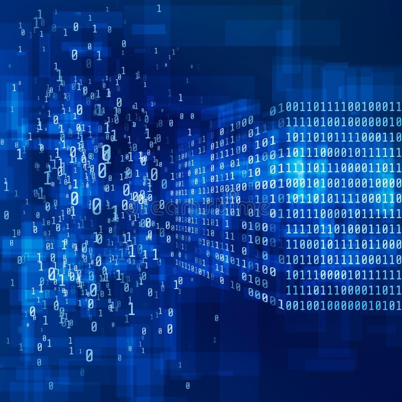 Code binaire Grand concept de données Illustration de vecteur illustration de vecteur