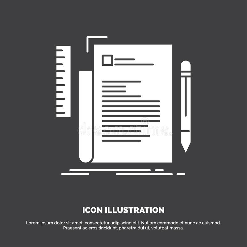 Code, codage, dossier, programmant, ic?ne de manuscrit r illustration stock