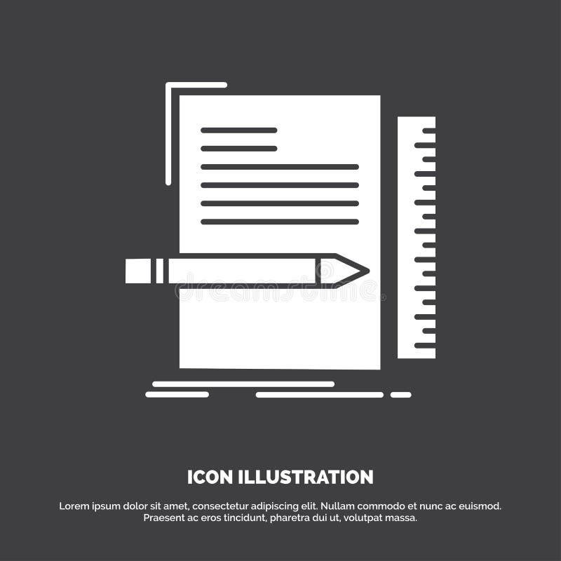 Code, codage, dossier, programmering, manuscriptpictogram glyph vectorsymbool voor UI en UX, website of mobiele toepassing vector illustratie