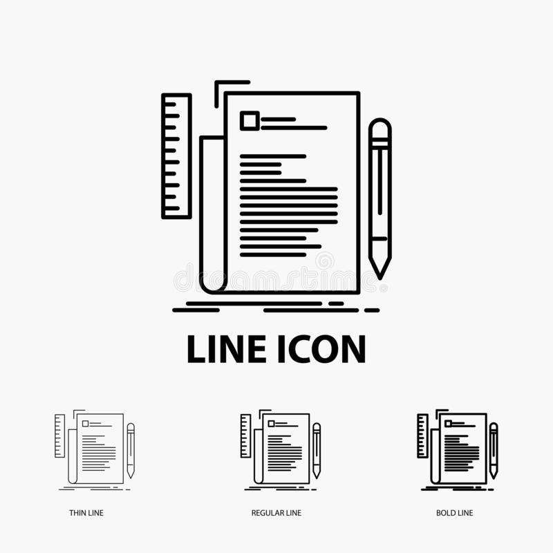 Code, coding, file, programming, script Icon in Thin, Regular and Bold Line Style. Vector illustration. Vector EPS10 Abstract Template background vector illustration