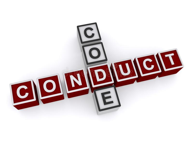 Code of Conduct royalty free illustration