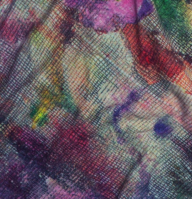 Code couleurs d'aquarelle de tissu de textile photographie stock