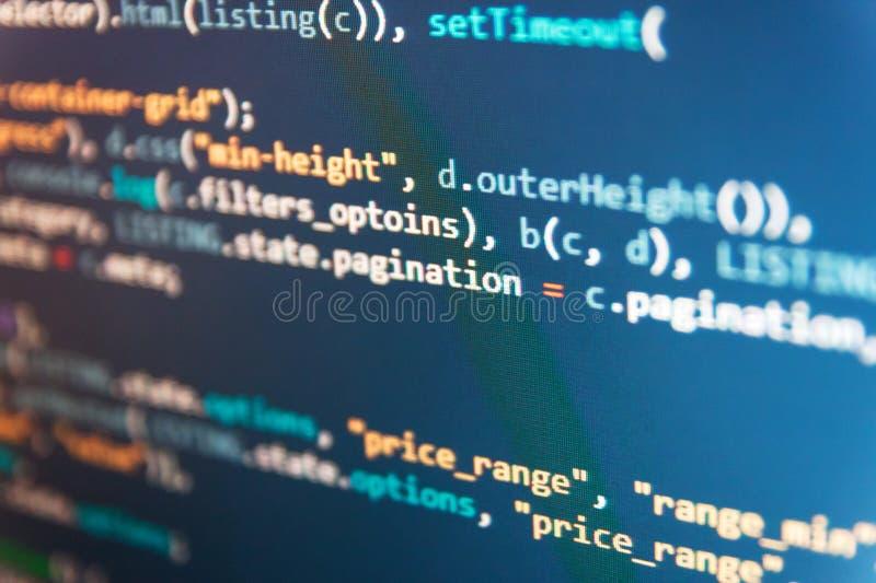Code Css3 auf einem bunten Hintergrund Programmierer Typing New Lines von HTML-Code Softwareentwicklung, die Projekte schafft Aus stockfotografie