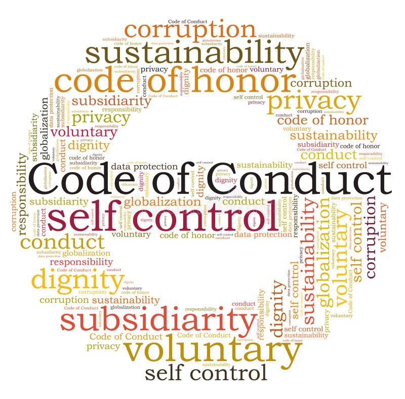 Code de conduite illustration libre de droits