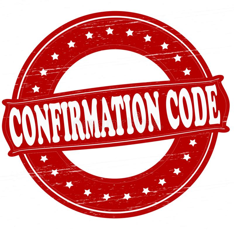 Code de confirmation illustration stock