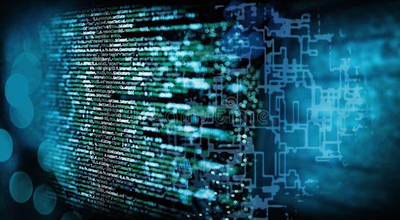 Code de programmation avec la formation technique illustration libre de droits