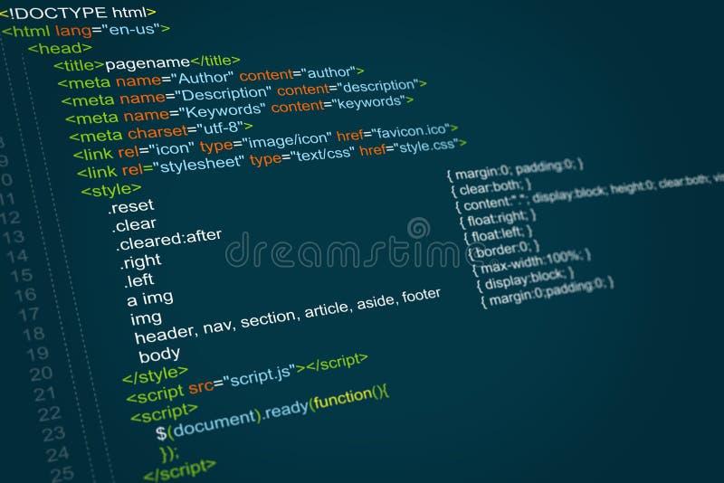 Code de programme illustration stock