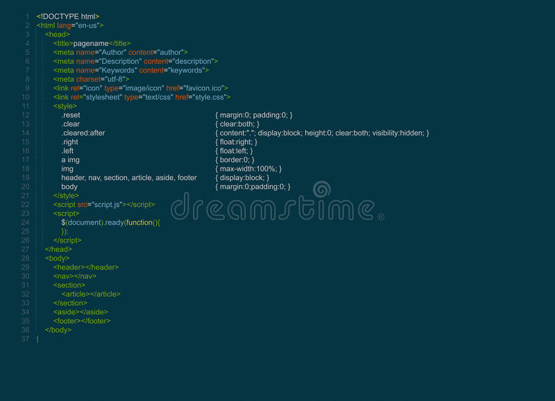 Code de programme illustration libre de droits