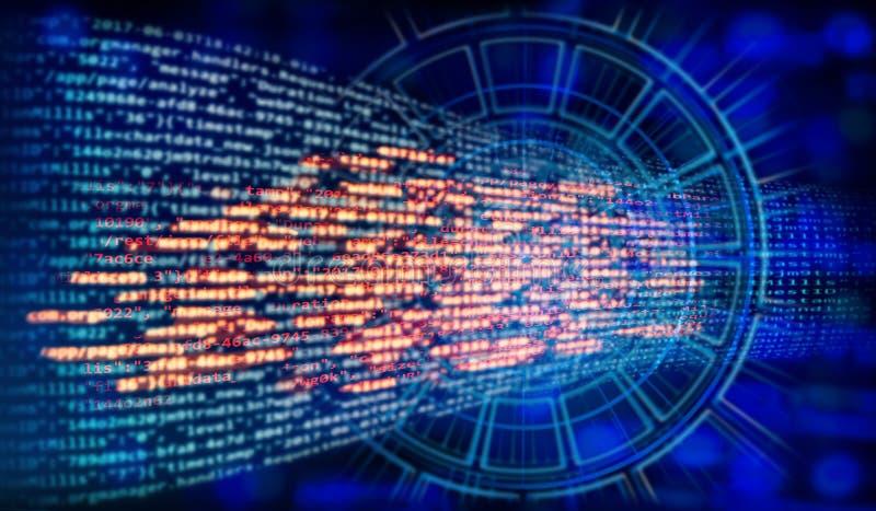Code de programme et fond de technologie images stock