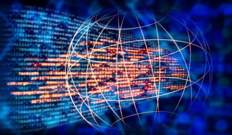 Code de programme et réseau global images stock