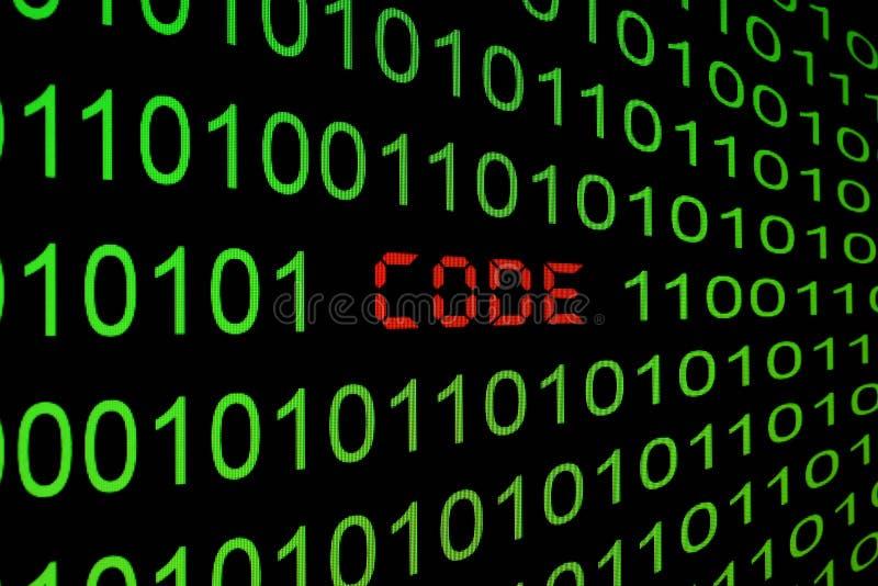 Code de programme sur un moniteur illustration stock