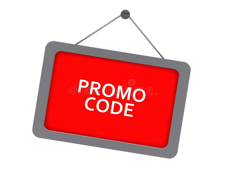 Code de promo illustration libre de droits