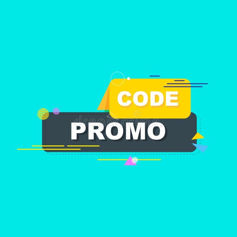 Code de promo, code de bon E r illustration de vecteur