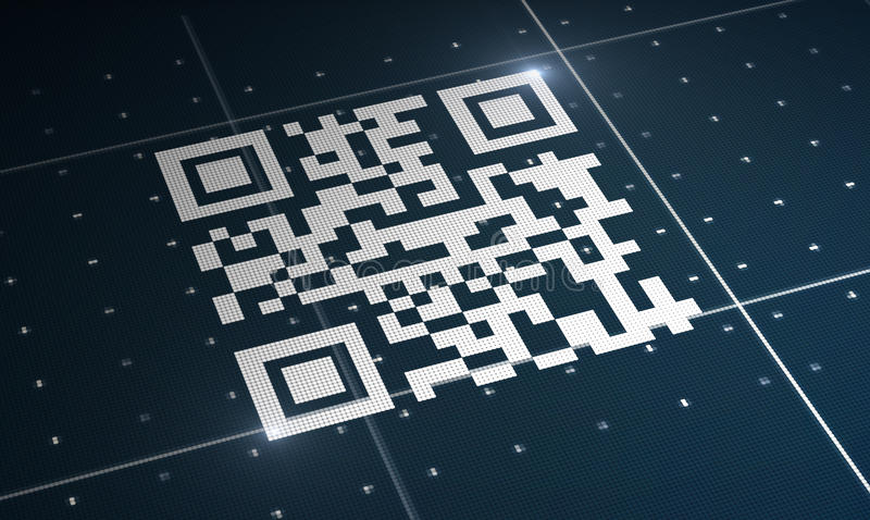 Code de Qr illustration de vecteur