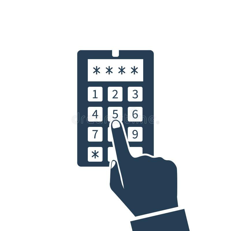 Code de système de sécurité, icône illustration de vecteur
