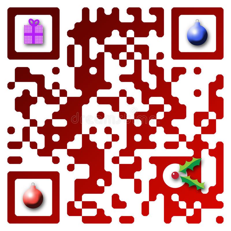 Code der frohen Weihnacht-QR vektor abbildung