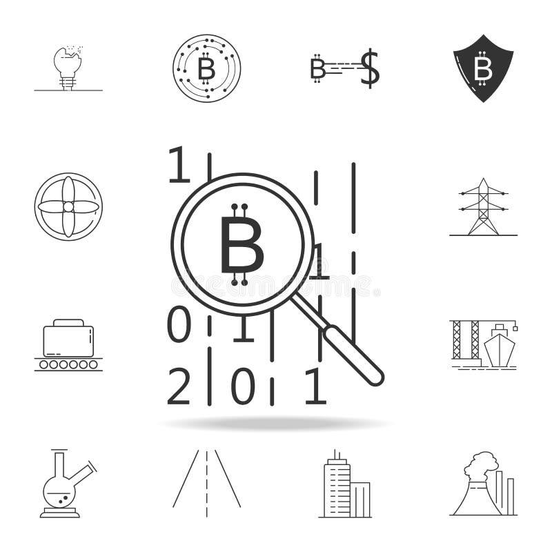 Code der Kredoikone Ausführlicher Satz Netzikonen und -zeichen Erstklassiges Grafikdesign Eine der Sammlungsikonen für Website, N lizenzfreie abbildung